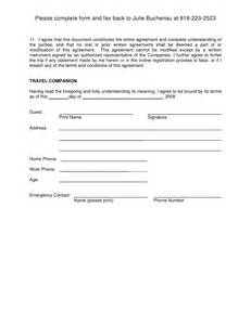 Damage Waiver Template by Damage Waiver Form Template Ebook Database