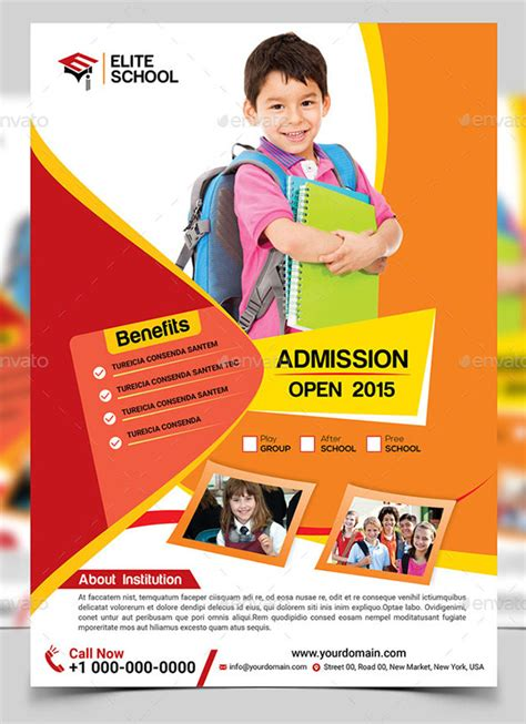 junior school flyer template print fitness pinterest