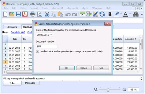 currency converter for specific date what s new in version 8 banana universal accounting