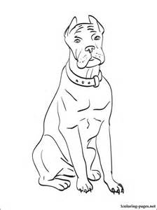 Cane corso coloring page and printable page for kids and all who like