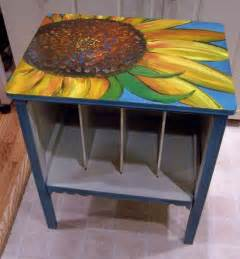 different ways to paint a table sunflower cabinet and poppy coffee table quot life of a daily painter quot