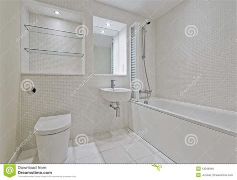 Bath And Shower Mixer bathroom with mosaic tiles royalty free stock image