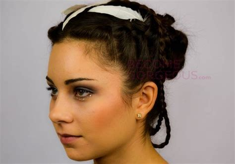 Katniss Everdeen Hairstyles by Katniss Everdeen Wedding Updo Tutorial Crazyforus