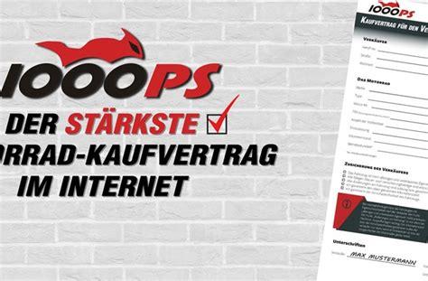 Kaufvertrag Motorrad Neufahrzeug by Motorrad News 1000ps Motorrad Kaufvertrag Kostenloser