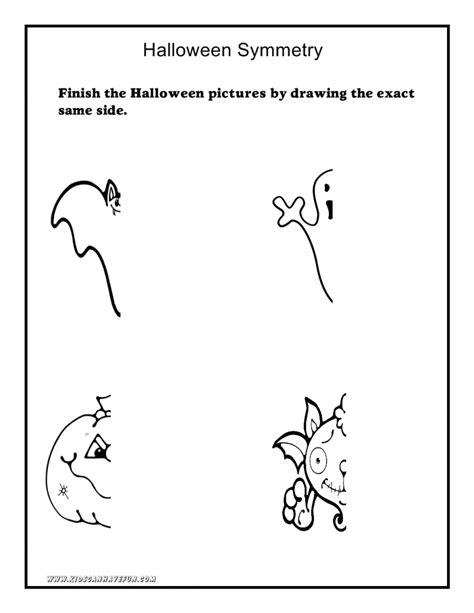tracing cutting printable worksheets halloweensymmetry 791x1024 halloween worksheets math