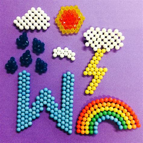 free beados templates w is for weather aquabeads weather alphabet