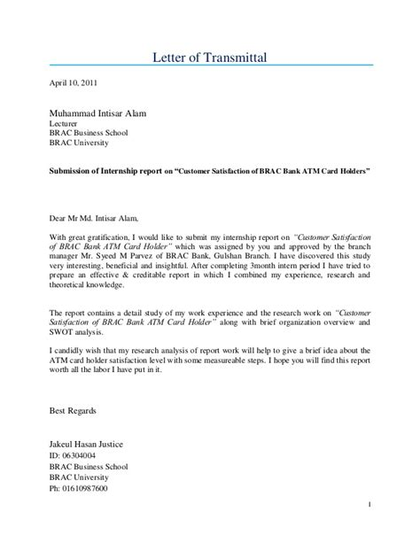 Bank Letter To Customer Sle Customer Satisfaction Of Brac Bank Atm Card Holders