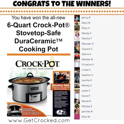 Crock Pot Cooker Giveaway And The Winners Are by 39 Best Gameday Favorites Cooker More Images On