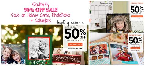 Shutterfly Gift Card Codes - shutterfly deals 50 off holiday cards calendars hardcover photo books