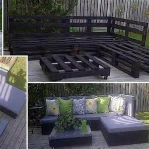 Wood pallet patio furniture upcycle pinterest