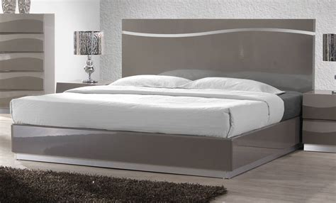 Gray Wood King Bed Delhi Gloss Grey Wood King Bed Headboard The Home