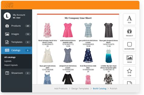 Create A by Create A Line Sheet With Free Templates Catalog Machine