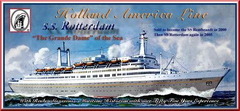 schip holland amerika lijn in rotterdam ss rotterdam v part 3 1972 to 1997 ss rembrandt 1997