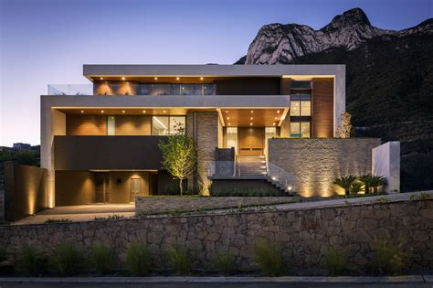 house modernist modern house on mountain modern house