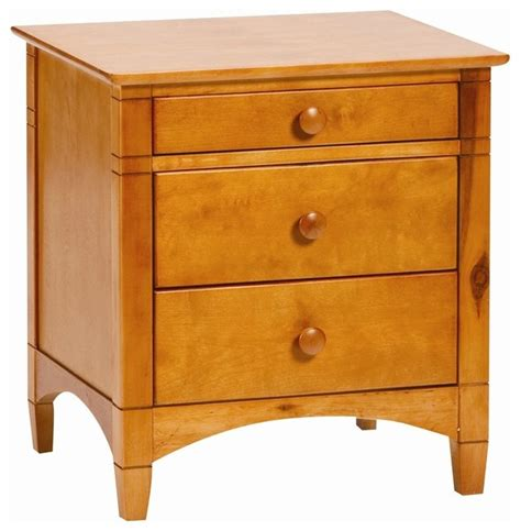 Honey Nightstand by Bolton Essex 3 Drawer Nightstand Honey Transitional