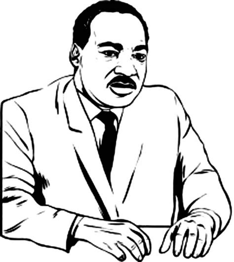 coloring page of dr king martin luther king coloring pages coloringsuite com