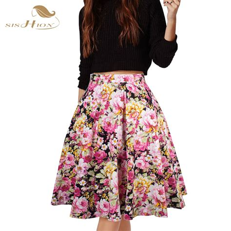 Sk113 Big Tutu Fashion Flower Skirts Black sishion skirts womens american apparel midi skirt floral dot black blue plus size