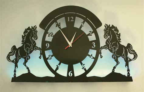 wall clock led light laser cut laser cutting