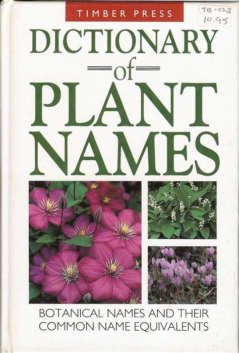 travelmarx dictionary of plant names