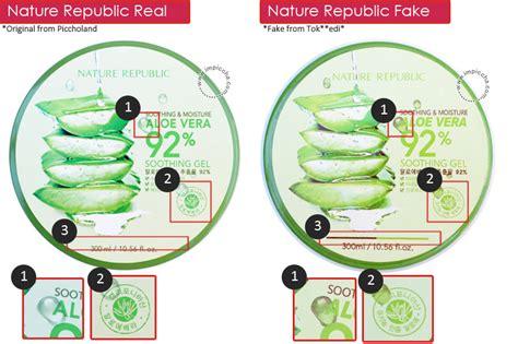 Harga Nature Republic Aloe Vera Asli 2018 perbedaan fiforlif asli dan palsu perbedaan krim
