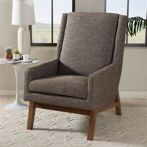 studio chairs baxton studio aberdeen gray fabric upholstered accent