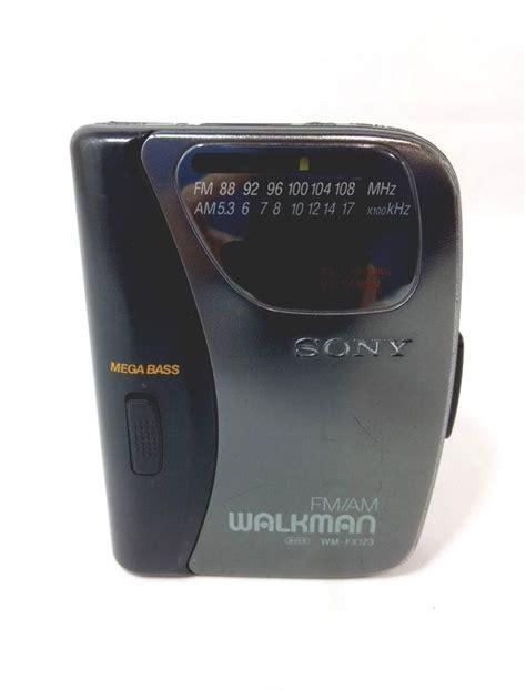 sony walkman cassette vintage sony walkman wm fx123 fm am cassette player with