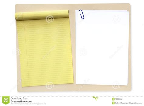 How To Make A File Folder With Paper - file folder with notepad and paper stock photography