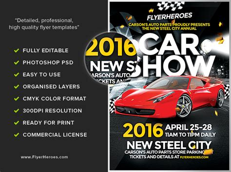 car flyer template car show flyer template flyerheroes