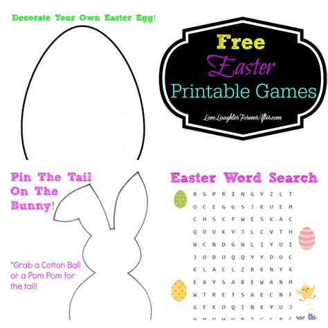 printable easter games free printable easter games