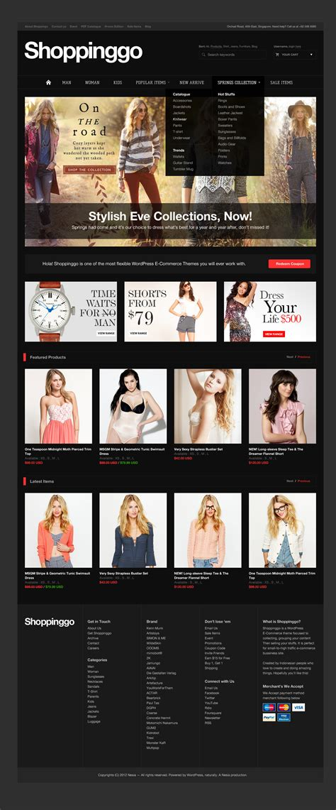 themeforest online store shoppinggo clean online store template by nesia