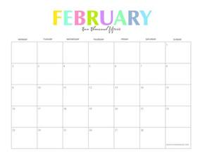 february calendar template the colorful 2015 monthly calendars by shiningmom are