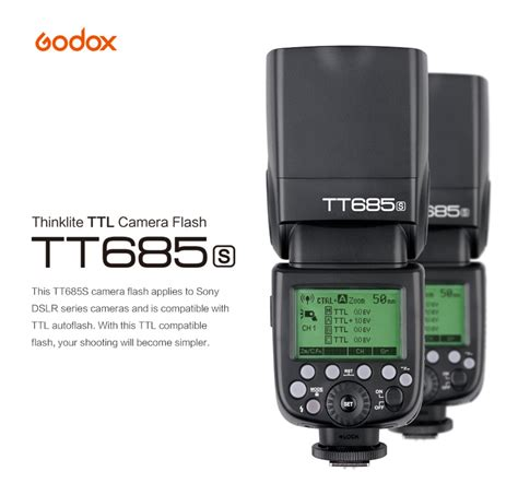 Godox Tt685s Ttl Speed For Sony With Godox X1t S Trigger godox speed light flash thinklite tt685s ttl for sony