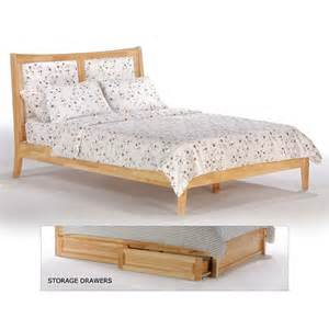 chameleon wood fabric headboard platform bed in natural by