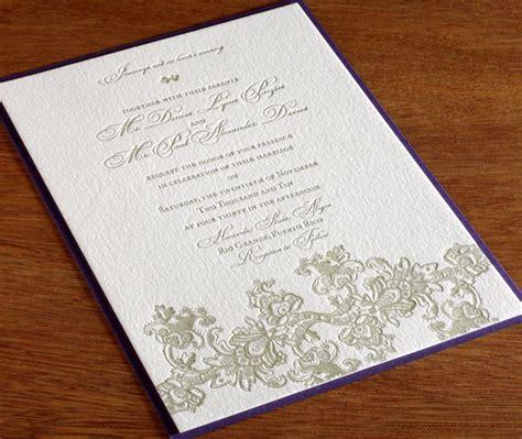 wedding invitation lace design vintage wedding trends for brides lace letterpress wedding invitation designs