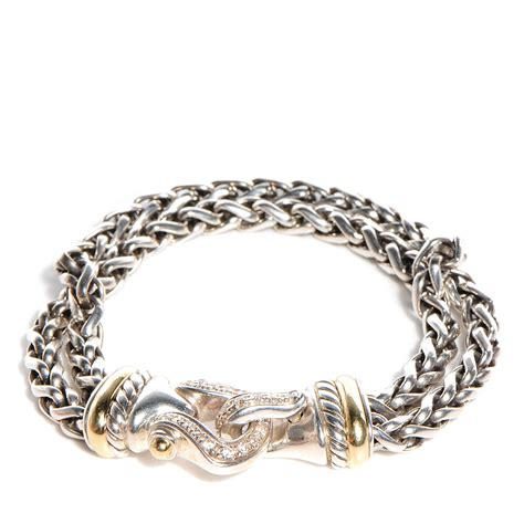 david yurman sterling silver 18k gold wheat