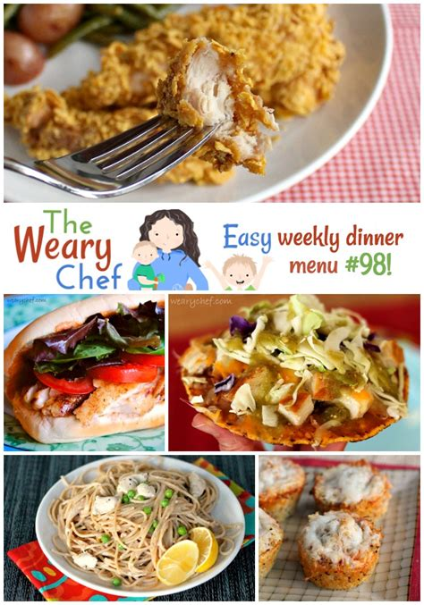 and easy dinner menu easy weekly dinner menu 98 easy dinner recipes for you