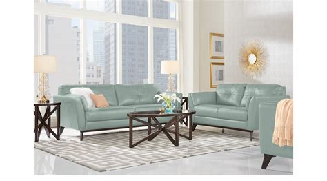 blue leather living room set 2 038 00 gabriele spa blue 7 pc leather living room classic contemporary