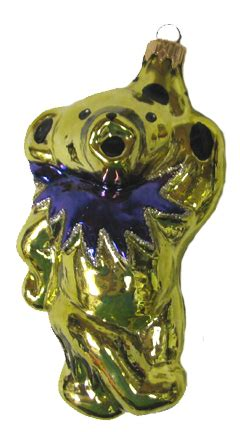 grateful dead yellow bear blown glass ornament woodstock trading company