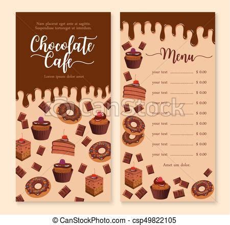 Chocolate Cake And Dessert Menu Template Design Cake And Vector Clipart Search Dessert Menu Template Free