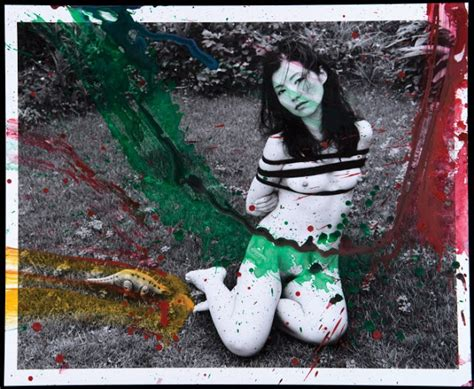 show about painting lente rasgado nobuyoshi araki painting series