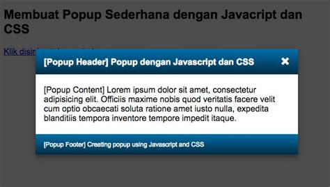 membuat hyperlink dengan javascript tutorial cara membuat popup dengan css dan javascript