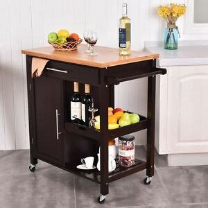 kitchen island trolley rolling wood kitchen island trolley cart bamboo top