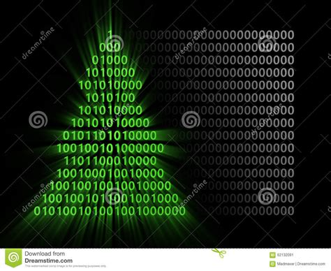 binary code xmas tree stock illustration image of ideas