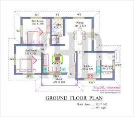 Low Cost Home Plans Low Cost House In Kerala With Plan Amp Photos 991 Sq Ft Khp