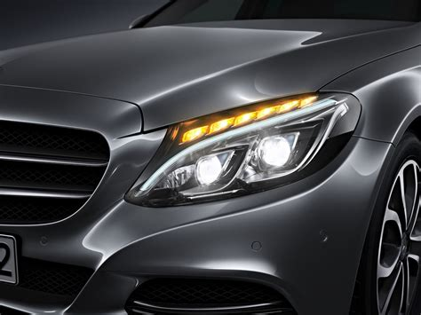 mercedes c class headlights new 2015 c class w205 has three different headlights
