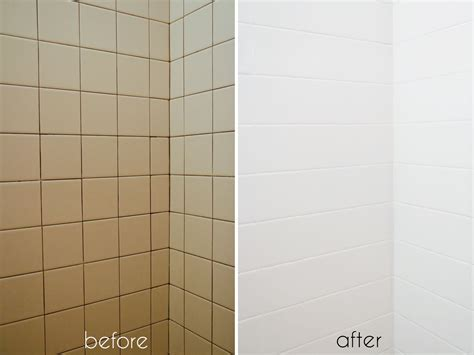 How To Paint Bathroom Wall Tiles by A Bathroom Tile Makeover With Paint Ramshackle Glam