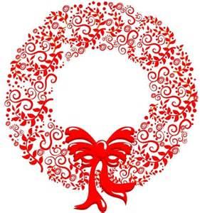 stylized christmas wreath free vector in adobe illustrator