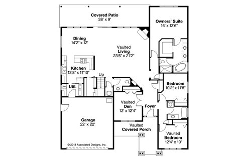 craftsman home floor plans craftsman house plans sutherlin 30 812 associated designs