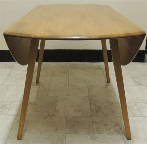 antiques atlas retro ercol blond drop leaf circular