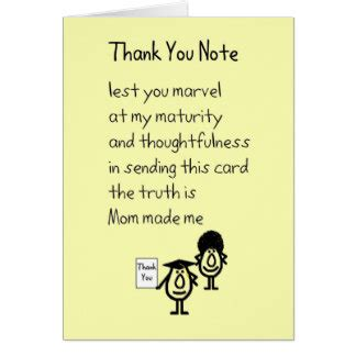thank you letter generous gift graduation poem greeting cards zazzle